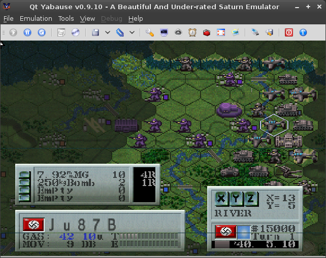 A screenshot of Iron Storm. The graphics are low-resolution and lack detail. Both German and Allied units face the west.
